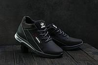 Кроссовки CrosSAV 39 (Adidas) (зима, мужские, натуральная кожа, черно-рыжий)