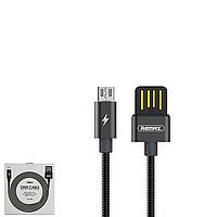 USB Data кабель Remax Tinned copper RC-080m MicroUSB 1m Black