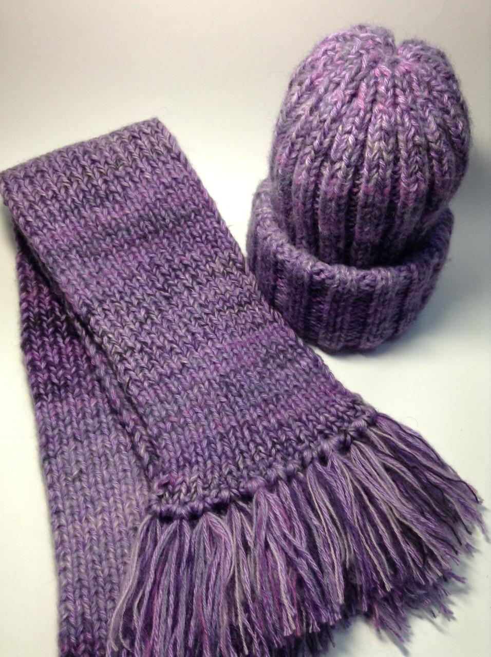 Шапка и шарф (25% шерсть)