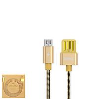 USB Data кабель Remax Tinned copper RC-080m MicroUSB 1m Gold