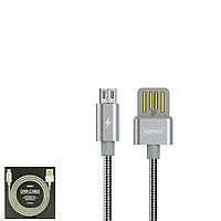 USB Data кабель Remax Tinned copper RC-080m MicroUSB 1m Silver