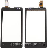 Тачскрин (сенсор) для Microsoft 435 Lumia Dual Sim, 532 (RM-1069), черный, оригинал