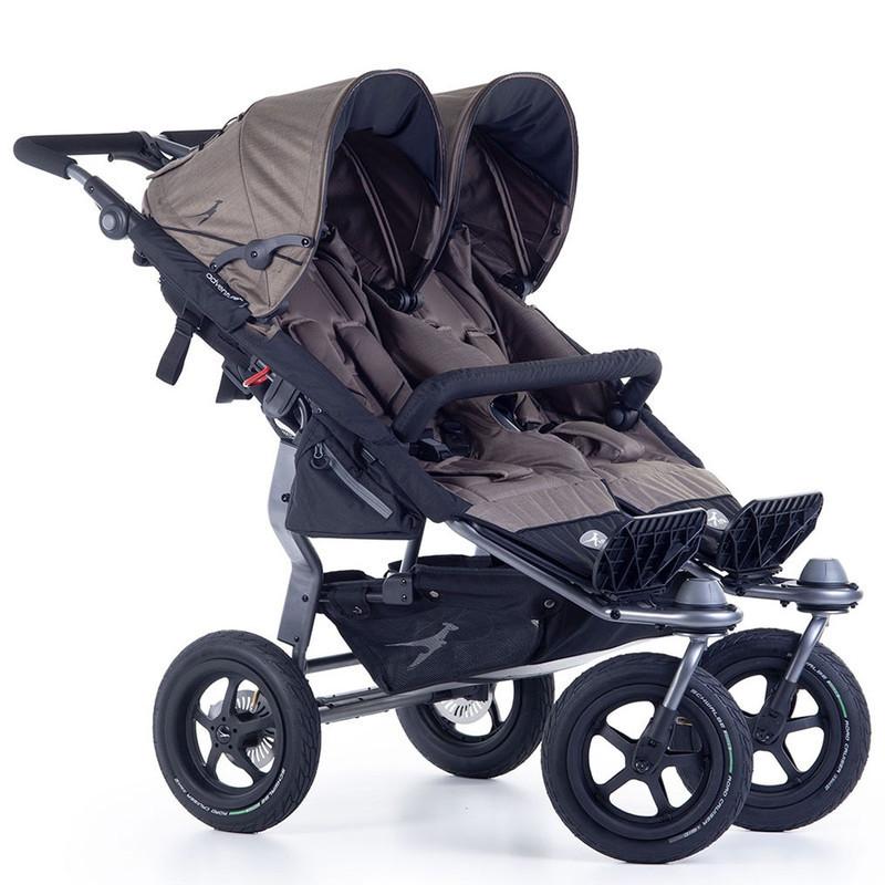 Прогулочная коляска для двойни TFK Twin Adventure 2 коричневый 2019