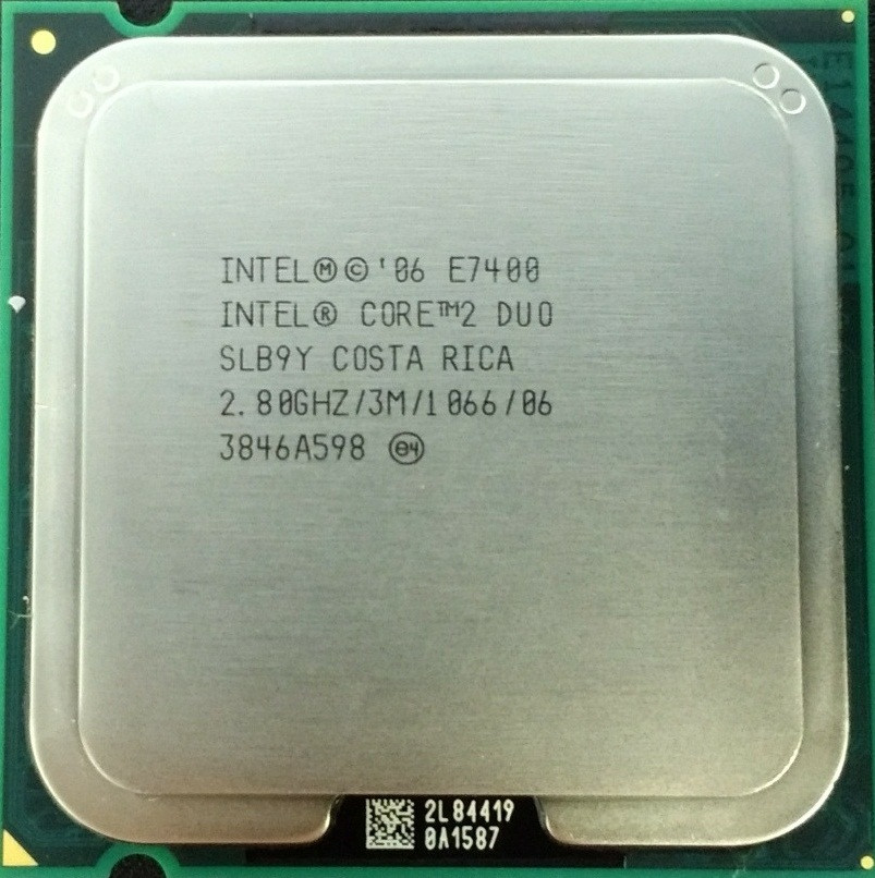 Процессор Intel Core 2 Duo E7400 2.80GHz/3M/1066 (SLB9Y) s775, tray