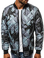 Куртка мужская хаки весенняя. Размер ХЛ Стильный мужской бомбер камуфляж