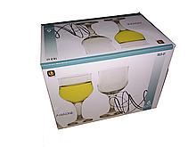Набор бокалов для вина 185 мл 6 шт стеклянных в форме тюльпан UniGlass Ariadne