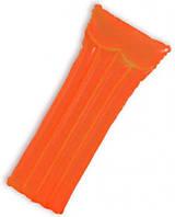 Надувной матрас intex 59717(Green) Оранжевый Неоновый (183-69см) (Оранжевый)