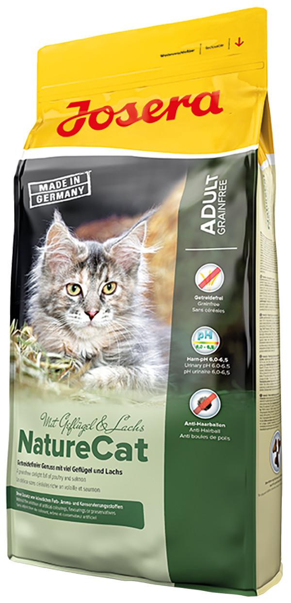 Сухой беззерновой корм для взрослых кошек Josera Nature Cat Adult с домашней птицей и лососем  400 грамм