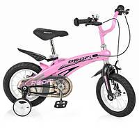 Велосипед дитячий PROF1 12 Д. LMG12122 Проективної рожевий
