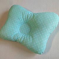 Подушка ортопедическая для младенца masterwork butterfly 25*35 см. мятная