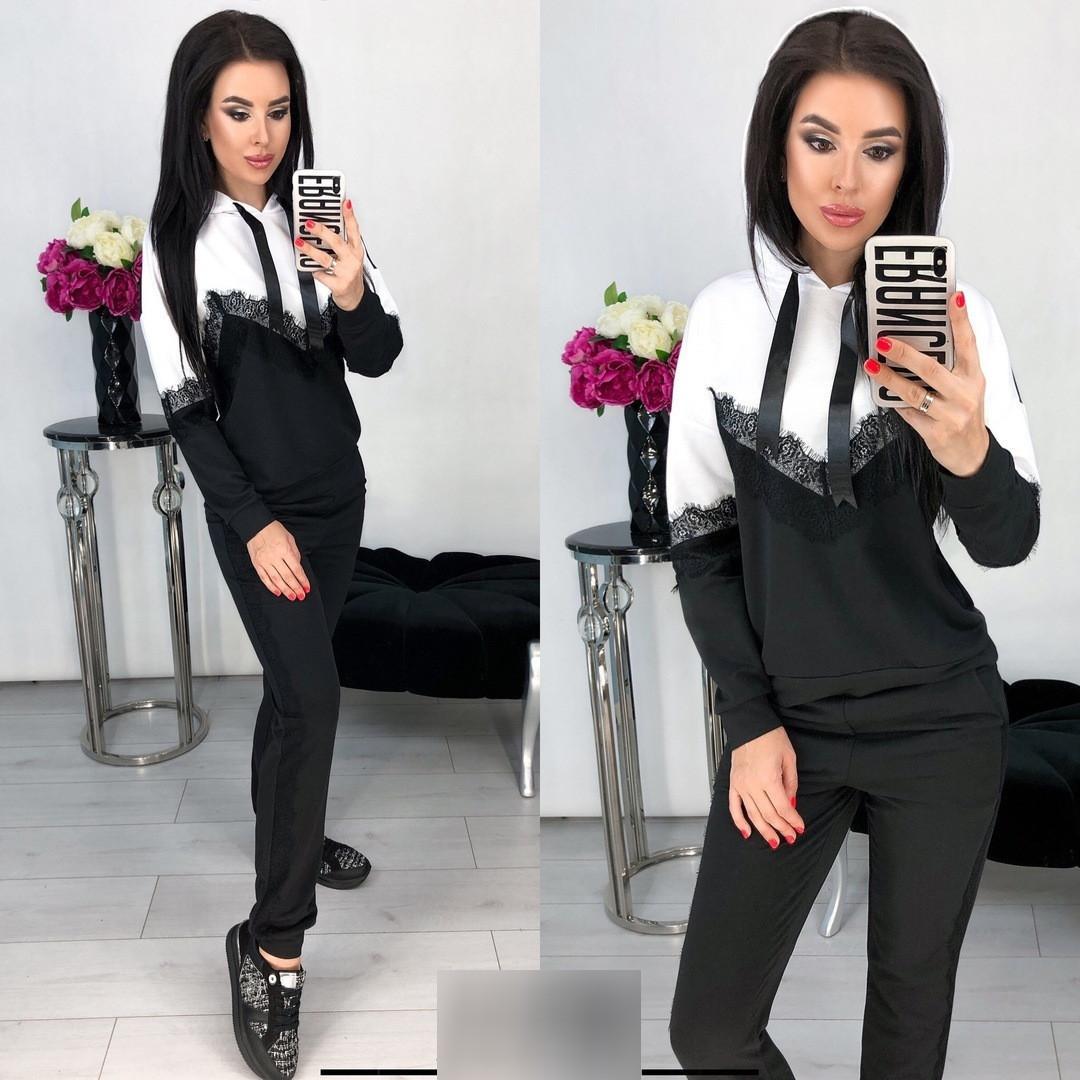"""Модный женский костюм """"Имидж"""" (черный)"""