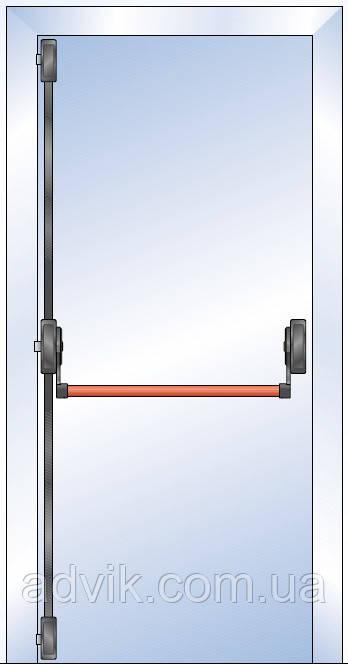 Ручка Антипаника G-U для 1-створчатой двери с горизонтальным 3-точечным запиранием*