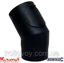 Колено для дымохода из чёрной стали Kominus KB-KN, фото 3