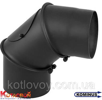 Колено для дымохода из чёрной стали Kominus KB-KN, фото 2