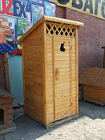 Туалет для дачи,туалет из дерева