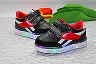 Детские кроссовки для мальчиков с LED подсветкой, фото 1