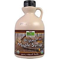"""Органический кленовый сироп NOW Foods """"Organic Maple Syrup"""" темный цвет, класс A (946 мл)"""