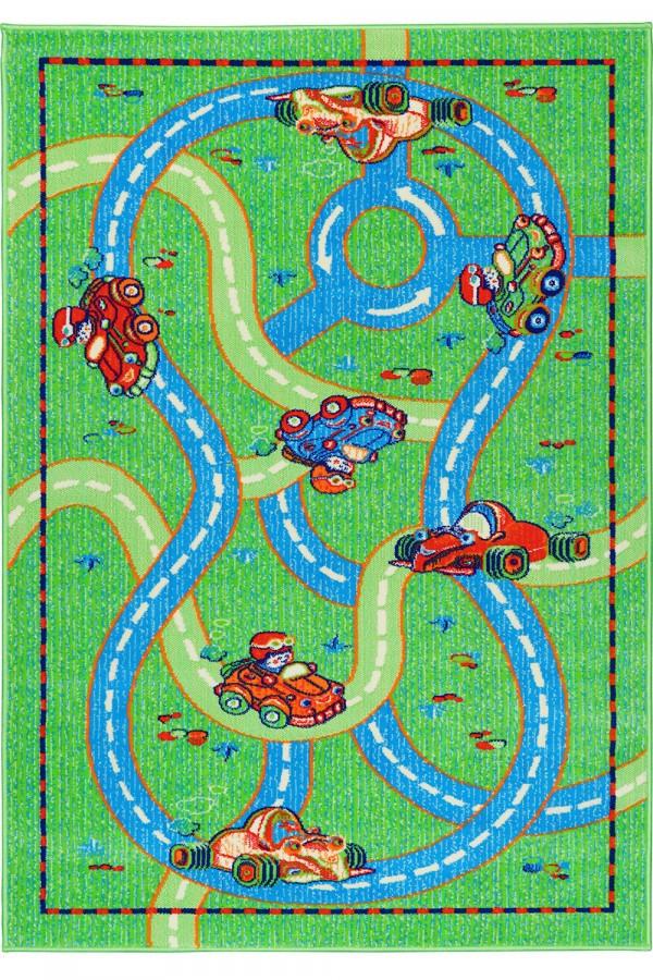 """Ковер для детской комнаты """"Тачки дорога"""", цвет синий.  Ковер Тачки Киев цена"""