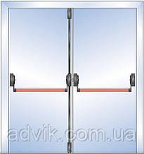 Ручка Антипаника G-U для 2-створчатой штульповой двери с горизонт. 1-точ. и вертикальным 2-точ. запиранием