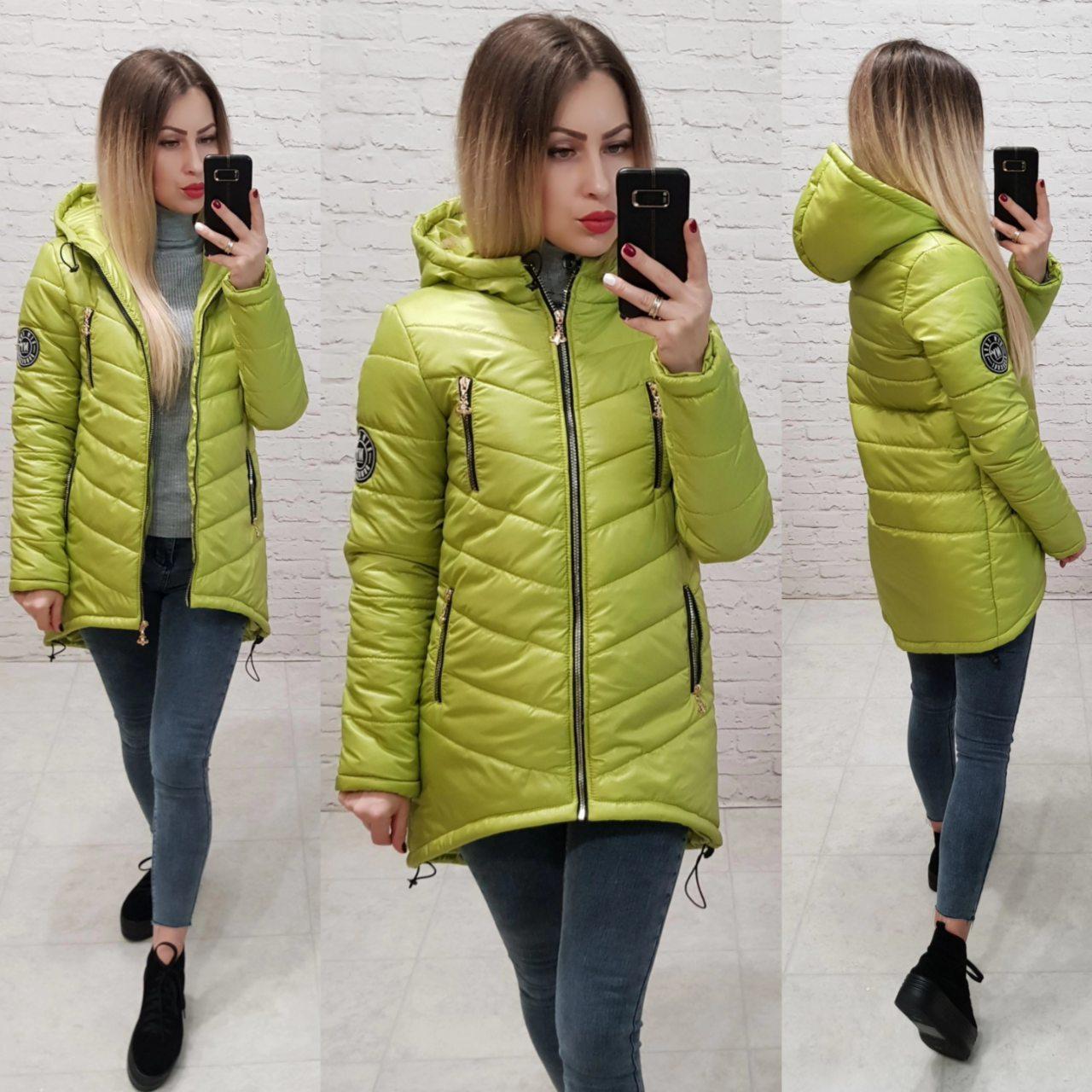 Куртка-парка зима (арт. 300) салатовый