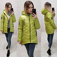 Куртка-парка зима (арт. 300) салатовый, фото 1