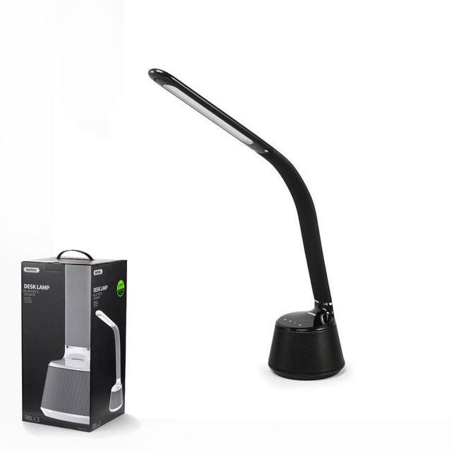 Настольная LED лампа + Bluetooth колонка Remax  RBL-L3 Black