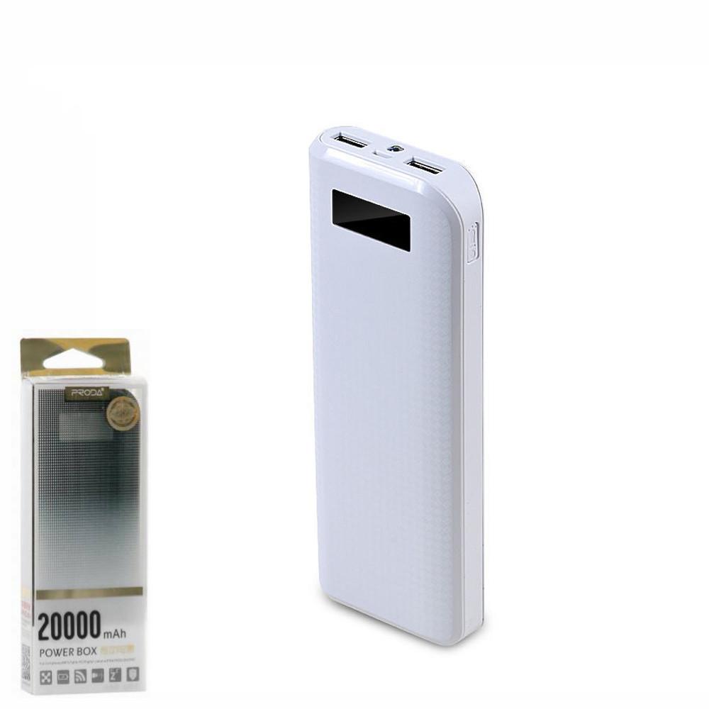 Портативное зарядное устройство (Power Bank) Remax Power Box PPL-12 20000mAh White