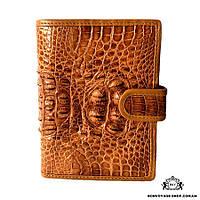 Мужской кошелек из кожи крокодила Mosart Custini 1115 рыжий