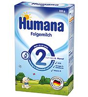 Смесь молочная сухая Humana 2,  с пребиотиками, 300 г ,6-12 мес.