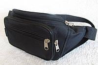 Надежная сумка на пояс или через плечо бананка поясная удобная мужская женская барсетка в2900 черная