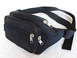 Надежная сумка на пояс или через плечо бананка поясная удобная мужская женская барсетка в2900 черная, фото 2