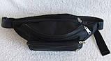 Надежная сумка на пояс или через плечо бананка поясная удобная мужская женская барсетка в2900 черная, фото 6