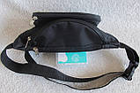 Надежная сумка на пояс или через плечо бананка поясная удобная мужская женская барсетка в2900 черная, фото 7