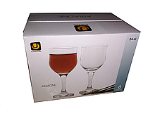 Набор бокалов для вина 240 мл 6 шт стеклянных тюльпан Ariadne UniGlass