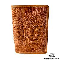Мужской кошелек из кожи крокодила Mosart Custini 1510 рыжий