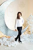 Свитер детский модель 217 вязанный белый