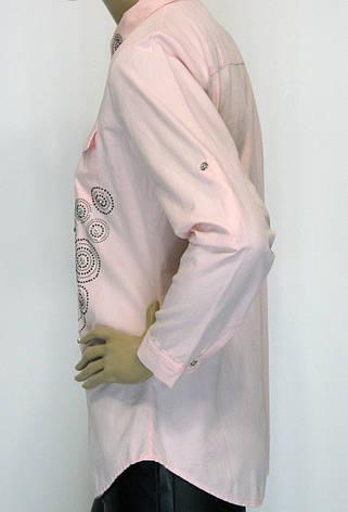 Женские рубашки из штапеля с стразами, фото 2