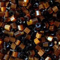 Бісер чеська рубка 15101 сатин коричневий, розмір 10/0 (упаковка 50грам)