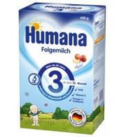 Молочная сухая смесь Humana 3 с пребиотиками галактоолигосахаридами, 600 г