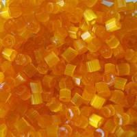 Бісер чеська рубка 85091 сатин жовтогарячий, розмір 10/0 (упаковка 50грам)
