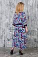 Платье в этническом стиле размер плюс Роксолана джинс (62-72), фото 3