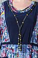Платье в этническом стиле размер плюс Роксолана джинс (62-72), фото 4