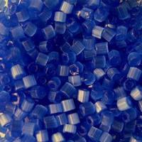 Бісер чеська рубка 35061 сатин синій, розмір 10/0 (упаковка 50грам)