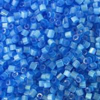 Бісер чеська рубка 65021 сатин блакитний, розмір 10/0 (упаковка 50грам)