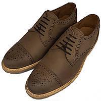 Мужские туфли оксфорды ручной работы Samuel Windsor из нубука SH0020/20