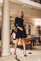 """Нарядное приталенное платье-мини """"SHIREN"""" с открытой спиной (3 цвета), фото 3"""