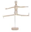 Большой, подвижный, деревянный человек. Деревянная action фигурка на подставке. 32 см!, фото 3