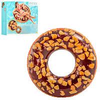 """Надувной круг """"Пончик шоколад"""" 114 см, intex (56262), фото 1"""