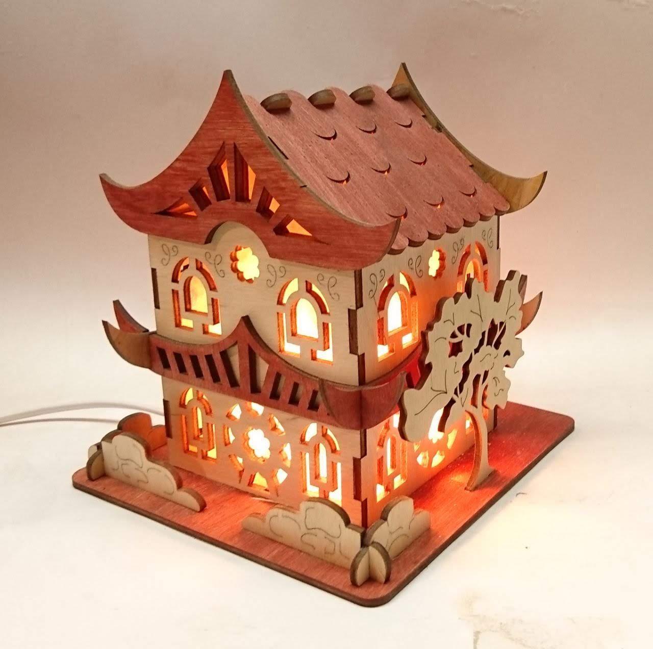Соляний світильник Будиночок 9