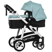 Универсальная коляска-трансформер светло-голубая Carrello Fortuna 9001 Arctic Blue деткам от рождения